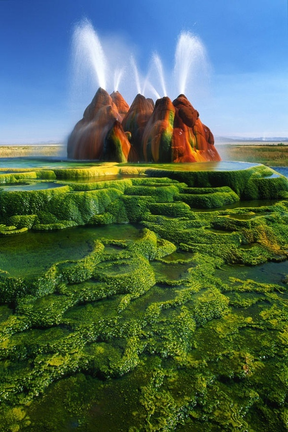 Fly Geyser of Fly Ranch is on private land in Nevada