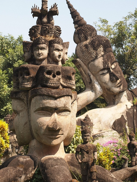 Xieng Khuan Buddha Park in Vientiane, Laos.