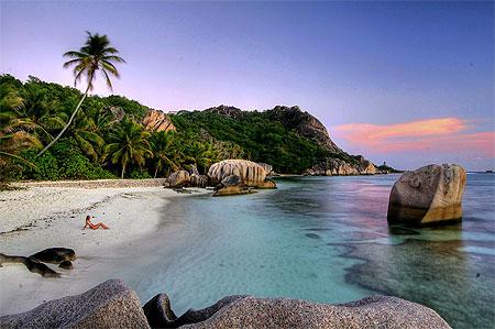 Seychelles beaches Anse source D'argent