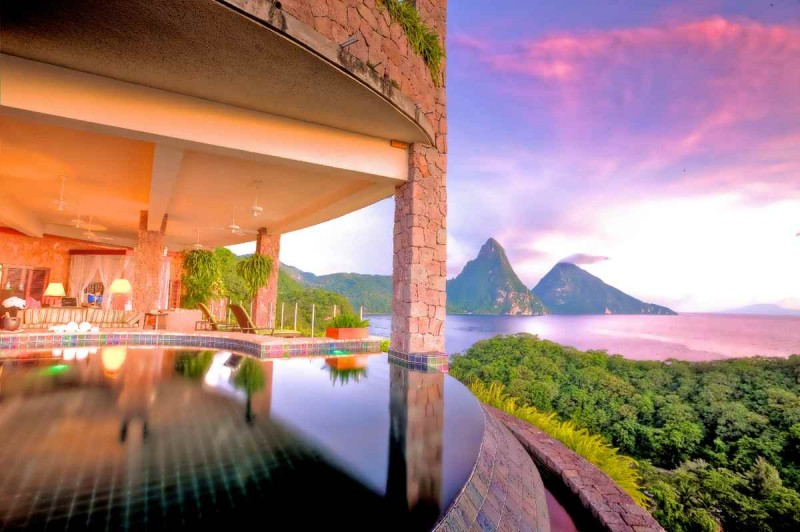 St Lucia Caribbean: Unbelievable And Most Amazing Swimming Pool Around The