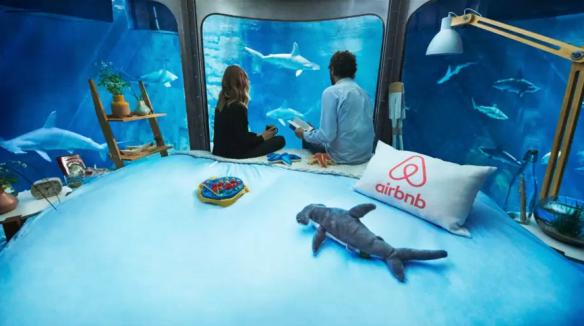 underwater bedroom sharks